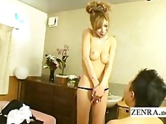 japanese newhalf sheboy is bare naked with blow