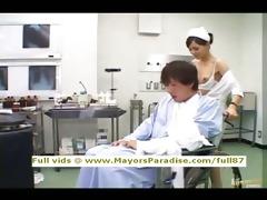 rio blameless chinese nurse enjoys doing handjob