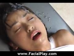 oriental hot sweethearts facial ejaculation fuck