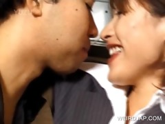 concupiscent oriental giving a kiss favourable guy