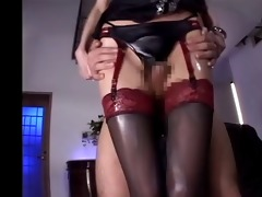 censored oriental intercrural sex (stockings and