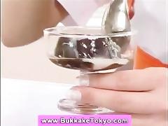 bukkake dessert with sperm on top