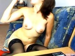 hot asian sunny masturbates her curly slit