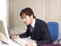 cute oriental secretary screwed part4
