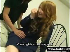 japanese schoolgirls show their brassiere