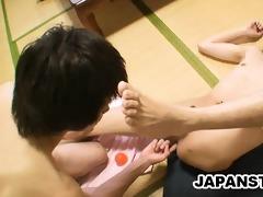 japanese men gratifying their hard rods