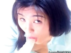 super hot japanese chick engulfing a sex toy part5