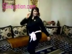 hot girl dancing lustrously with pleasure,