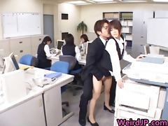 cute oriental secretary drilled part0