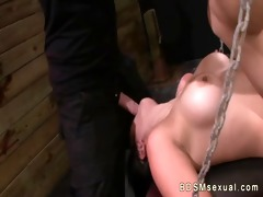 breasty chained oriental playgirl roughly mouth