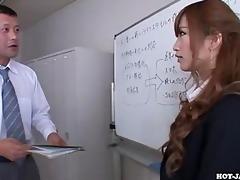 japanese girls attacked seductive secretariate at