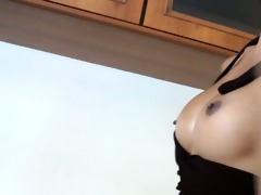 cute ladyboy rin explodes sticky sex cream