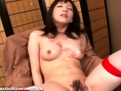 japanese femdom bdsm dungeon scene with intensive