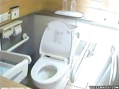 little girls in water closet were completely naked