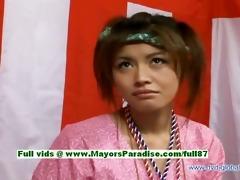 yuzuru japanese virginal chinese gal is talking