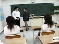 subtitled cfnm japanese classroom masturbation