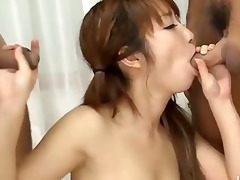 oriental admirable oral-sex and cook jerking