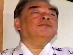 older oriental homo lad touching himself