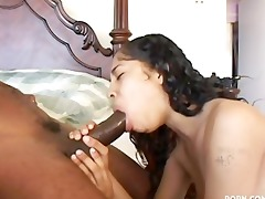 kia takes a darksome cock in throat and muff