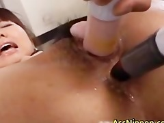 unshaved cookie and constricted anus drilled part1