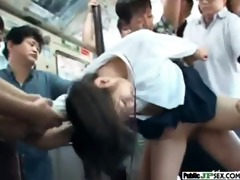 hot japanese naughty angel acquire public nailed