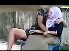 indonesian- hijab gal fingered