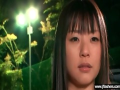 legal age teenager oriental beauty flashing and
