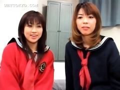 smiling oriental teen angels sharing a horny