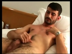 sexually excited turkish man spunk flow