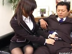 hawt secretary satomi maeno sucks an unsightly