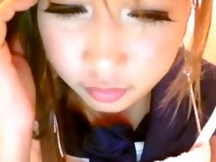 real hentai gal disrobes on livecam -