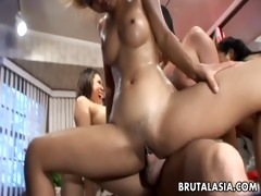 oriental sluts mika tan and lyla lei boned coarse