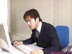 cute oriental secretary screwed part2