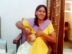 indian aunty showing her love bubbles