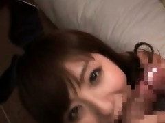 slutty japanese redhead engulfing loaded dong in