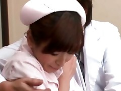 cute japanese legal age teenager nurse in