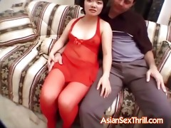 small asian goes for some