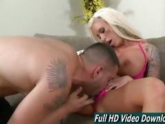 lolly ink blonde bigtits bikini tittyfuck