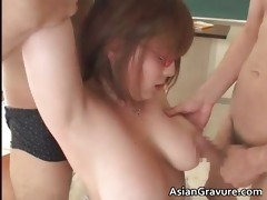 nasty asian teacher with massive whoppers