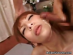 beautiful oriental brunette sweethearts engulf