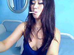 kim smokin on web camera