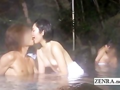idyll japanese outdoor mixed bathing group