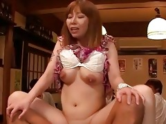 breasty japanese got facialed