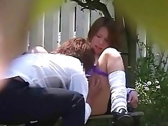 japanese school gal outdoor campus fuck