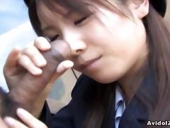 japanese momo aizawa gives an outdoor irrumation