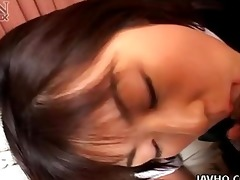 dozing japanese legal age teenager wakes up for a