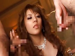 breathtaking oriental sweetheart giving a oral sex