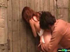 oriental harlots love to fuck outdoor clip-83