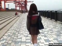 legal age teenager oriental beauty flash and