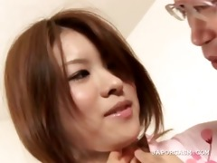 oriental playgirl in hairless slit acquires